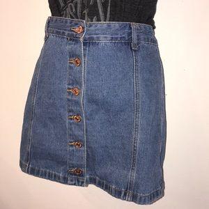 Forever 21 Los Angeles Jean Skirt